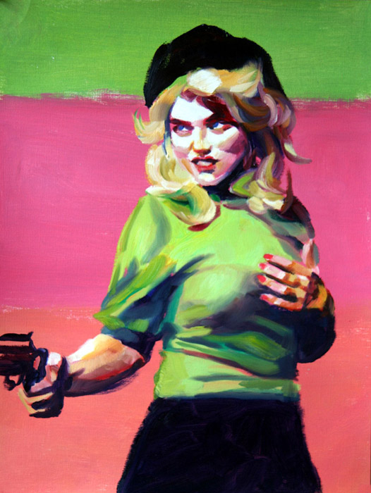 gun-crazy-oil-sketch-i-2011-me
