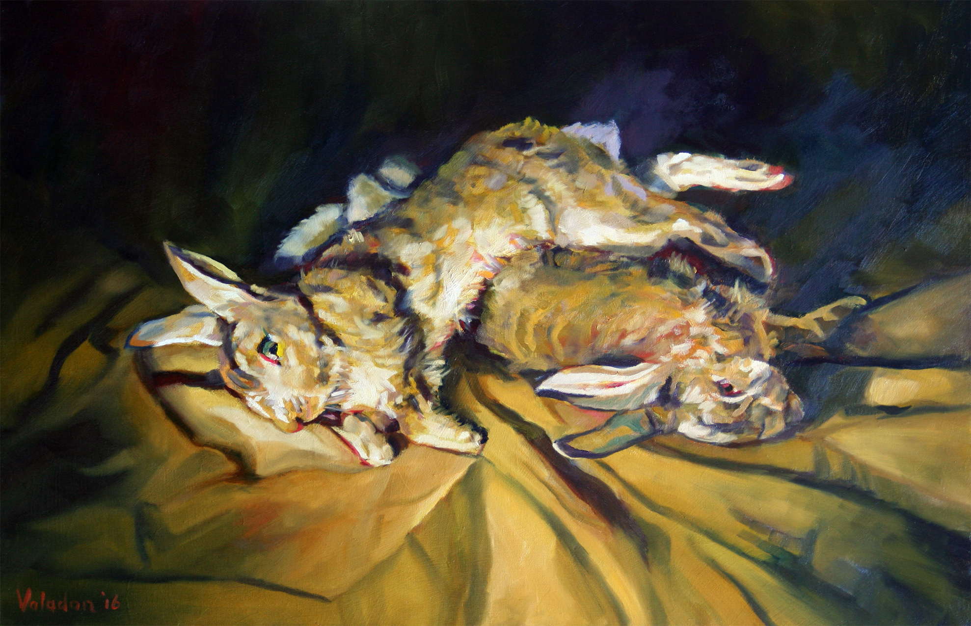 Rabbits - after Goya (Winter series) 2016 61x91cm
